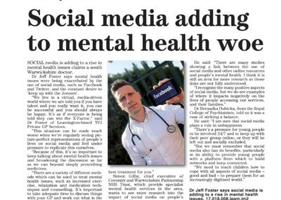 Social Media and mental healh - Leamington Observer