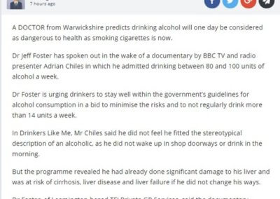 Alcohol and dangerous as smoking article image